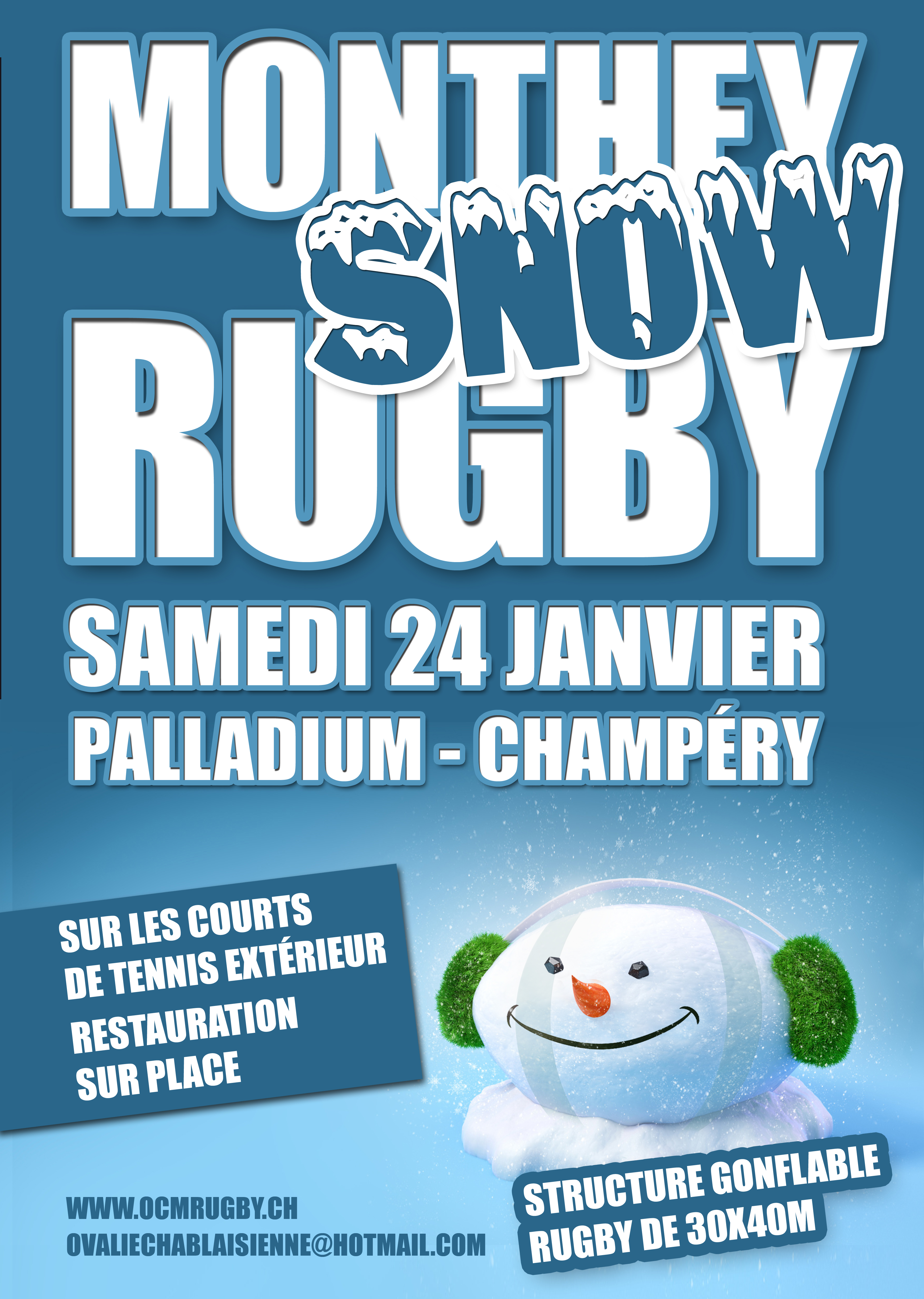 !!! ANNULE Monthey Snow Rugby ANNULE !!!